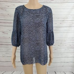 Daisy Fuentes Blouse M Sheer